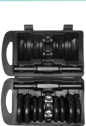 38 LB Dumbbell Weight Set Cast Iron with Case BRAND NEW IN BOX for Sale in Milpitas, CA