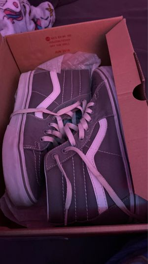 Grey and white hi-top vans. for Sale in WARRENSVL HTS, OH