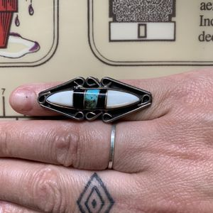Turquoise Native American onyx silver ring for Sale in Fox Lake, IL