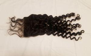 18 Brazilian human hair lace closure for Sale in Washington, DC