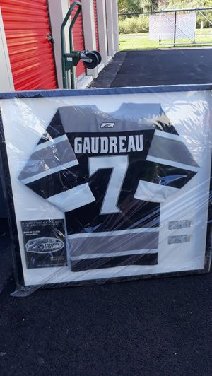 Rob Gaudreau framed game jersey, tickets, and pamphlet for Sale in Portsmouth, RI