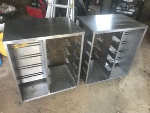 2 small roll around stainless tables. for Sale in Columbus, NJ
