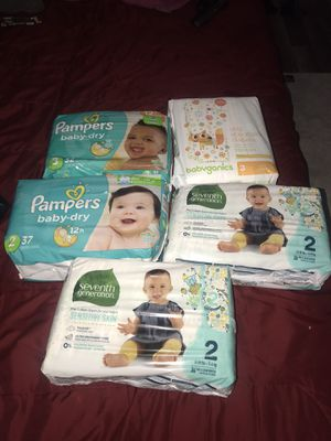 Pampers, seventh generation, babyganics diapers for Sale in Cleveland, OH