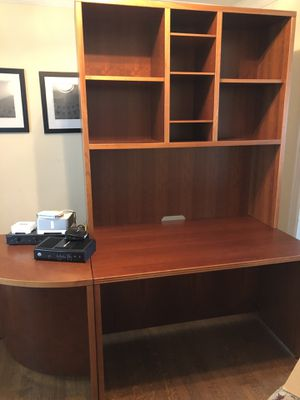 Office furniture! Two piece wood desk with removable hutch for Sale in Dallas, TX