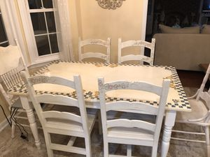 Hand Painted Table and Chairs Set — rabbit motif for Sale in Ashburn, VA