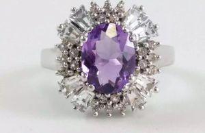 Vintage The Genuine Gemstone Co. Amethyst Ring for Sale in Las Vegas, NV