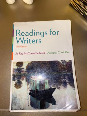 Reading for Writers 15th Edition for Sale in San Antonio, TX