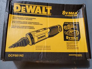 Dewalt 8-Volt MAX Cordless Gyroscopic Screwdriver for Sale in Burlington, NJ