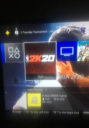 Selling account , has nba2k20 download and 90 plus players and always Elite 1 and world war Z downloaded for Sale in Houston, TX