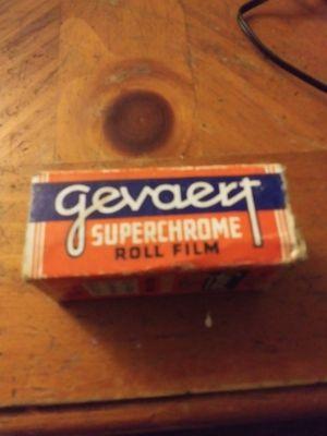 Pre 1944 Box of 8 exposures. Gevaert SuperChrome Roll Film for Sale in Columbus, GA