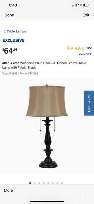 Woodbine collection lamp for Sale in Bakersfield, CA