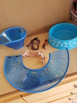 Dog bowl, 2 e-collars, 1 collar, 2 harness for Sale in Cape Coral, FL