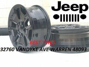 """17"""" Jeep Wrangler wheels new rubicon set for Sale in Warren, MI"""