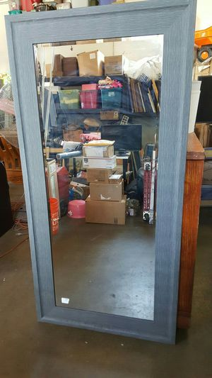 """Solid wood wall hanging mirror grey wood frame 68"""" high x 34"""" wide for Sale in Downey, CA"""