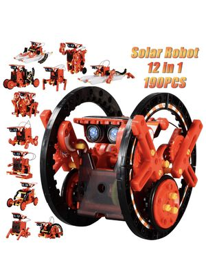 STEM 12-in-1 Education Solar Robot Toys -190 Pieces DIY Building Science Experiment Kit for Kids Aged 8-10 and Older,Solar Powered by The Sun for Sale in Tempe, AZ