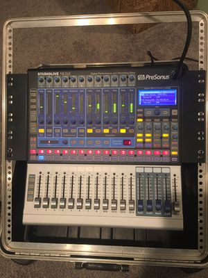 Personus Studiolive 16.0.2 digital mixer with flight case for Sale in MAYFIELD VILLAGE, OH