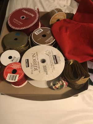 Christmas ribbon & stocking bundle for Sale in Fresno, CA