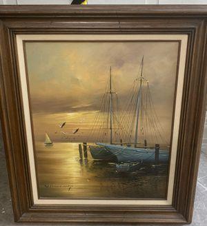 W Vennekamp German artist painting nautical for Sale in Pembroke Pines, FL