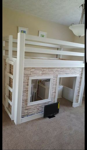 Beautiful Kids playhouse bed & Tv for Sale in Fishers, IN