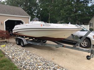 2003 Glastron DX215 Deck Boat, 21ft w/trailer for Sale in Pine Beach, NJ