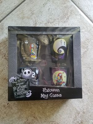 Nightmare before Christmas 4 pc shot glasses for Sale in Phoenix, AZ