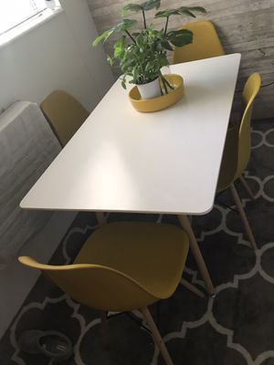 Modern yellow dining room chairs for Sale in Salt Lake City, UT