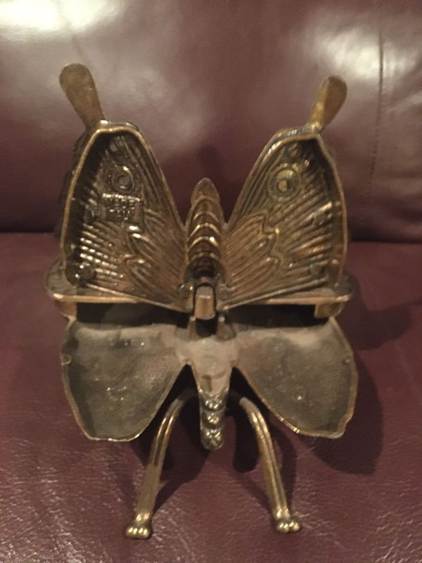 "VINTAGE BRASS BUTTERFLY ASHTRAY MOD at-DEP"" , ""BREV N4240"""