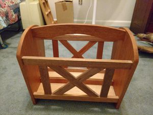 Wooden magazine rack for Sale in Needville, TX