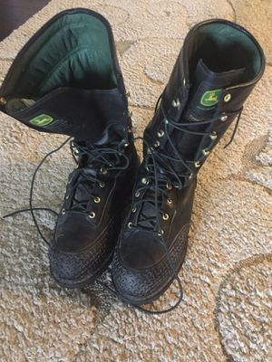 """John Deere12"""" waterproof, insulated, steel toe, size 12W in excellent condition boots for Sale in Tacoma, WA"""