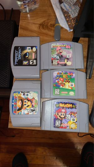 Complete Nintendo 64 2 controllers fully tested all games working Mario kart 64 Mario party 2 super smash bros super Mario 64 for Sale in Maple Heights, OH
