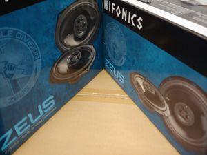 Hifonics (total 2 pairs) 1 pair HIFONICS 6.5 inch 3 way 300 watts & 1 pair 6×9 3 way 400 watts car speakers brand new for Sale in Huntington Park, CA