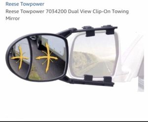 NEW Adjustable REESE Towpower DUAL VIEW TOWING MIRROR Convex & Flat for Sale in Westerville, OH
