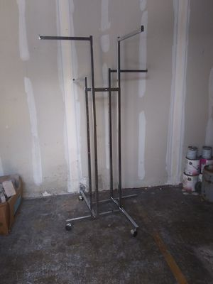 4 Tier Retail Clothing Rack adjustable on Wheels for Sale in Lakeland, FL