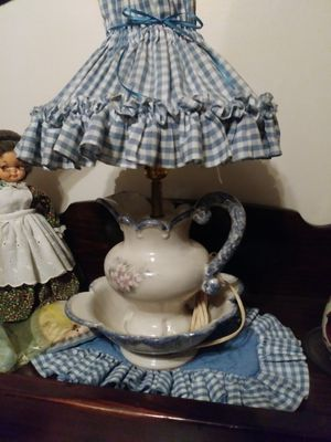 Bowl and pitcher lamp for Sale in Chesapeake, VA