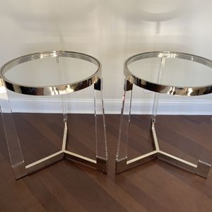 Glass And Acrylic Side Tables for Sale in Hinsdale, IL