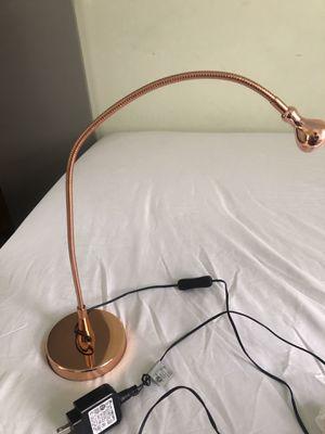 Rose gold desk lamp works well for Sale in Philadelphia, PA
