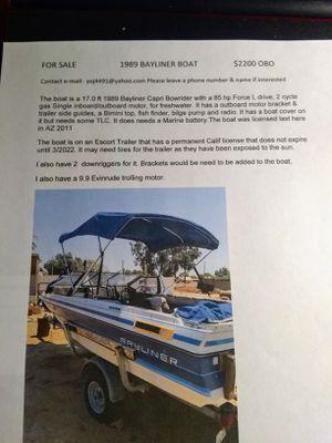 1989 Bayliner Capri Bowrider Boat for Sale in Buckeye, AZ