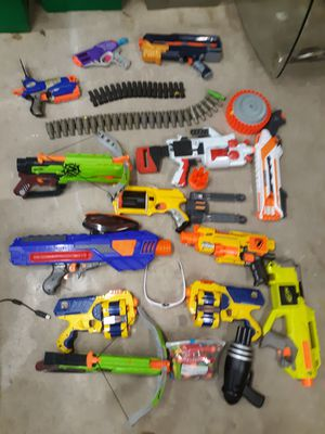 Nerf guns over 20 and nerf glasses for Sale in Tullahoma, TN