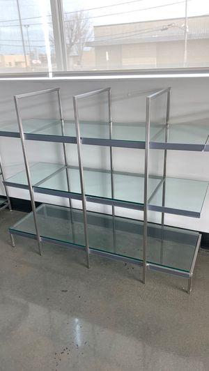3- tier glass shelves metal frame display for Sale in Vineland, NJ