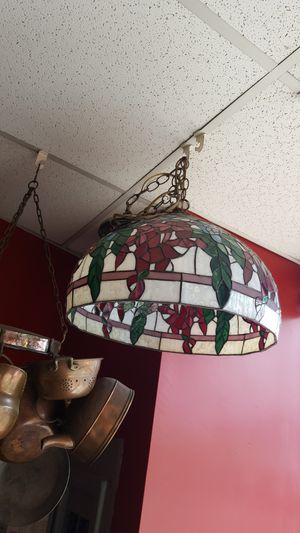 Vintage Tiffany style hanging light fixture chandelier for Sale in Medford, MA