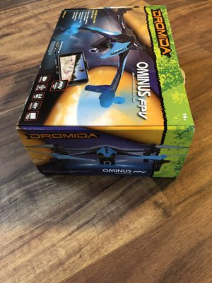 Dromida Ominus First-Person View (FPV) Unmanned Aerial Vehicle (UAV) Quadcopter Ready-to-Fly (RTF) Drone with Radio System, Batteries and USB Charger for Sale in Big Bear, CA