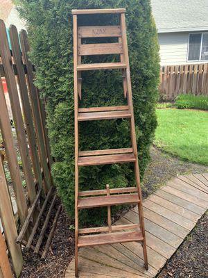5 Feet 7 Inch Wooden Folding Ladder for Sale in Beaverton, OR