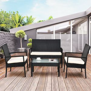 4 PCS Outdoor Patio Furniture Cushioned Set Home Decor for Sale in Los Angeles, CA