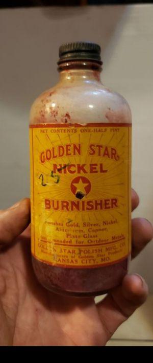 Antique Golden Star Nickel Burnisher bottle for Sale in Columbus, OH