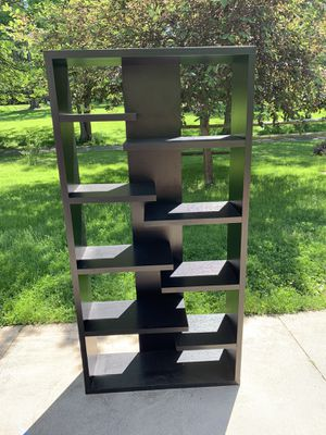 Black Wood Shelving Unit for Sale in Brecksville, OH