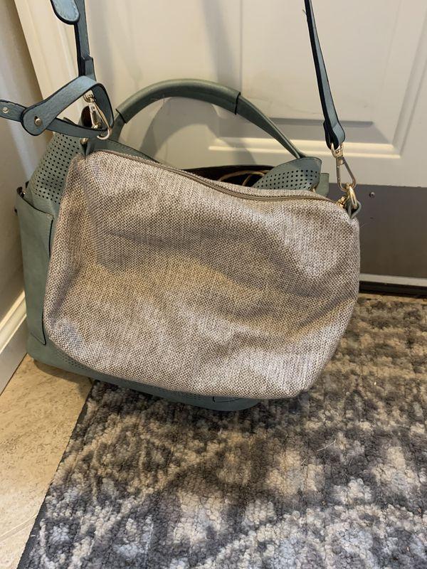 Grey leather Hobo Bag