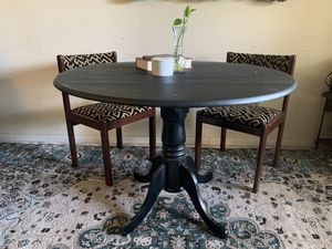 Black farmhouse or boho dining table for Sale in Houston, TX