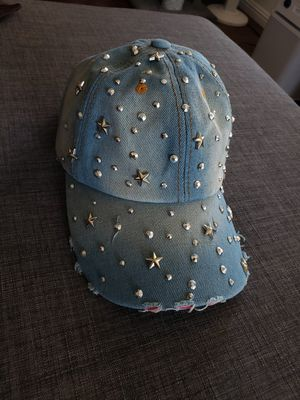 Stars and studded distressed denim cap- new for Sale in San Diego, CA