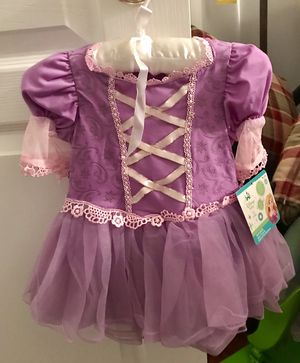 NEW with tag, RAPUNZEL dress w/headband & snap closure crotch for diaper change. Size 6M+ for Sale in UPR MAKEFIELD, PA