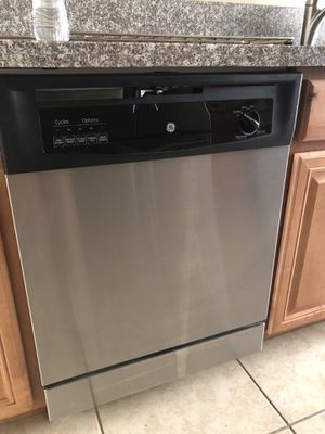"""GE stainless dishwasher. 24"""". for Sale in Cardiff, CA"""